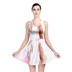 Abstract Angel in White Reversible Skater Dresses