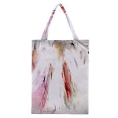 Abstract Angel in White Classic Tote Bags