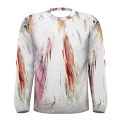 Abstract Angel in White Men s Long Sleeve T-shirts