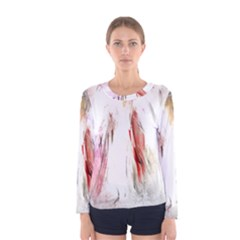 Abstract Angel in White Women s Long Sleeve T-shirts