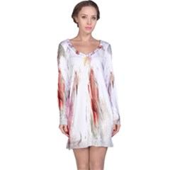 Abstract Angel In White Long Sleeve Nightdresses