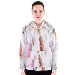 Abstract Angel in White Women s Zipper Hoodies