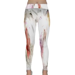 Abstract Angel In White Yoga Leggings