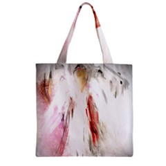 Abstract Angel in White Zipper Grocery Tote Bags