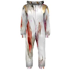 Abstract Angel in White Hooded Jumpsuit (Ladies)