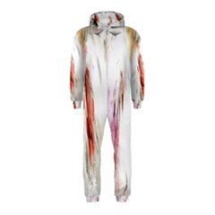 Abstract Angel In White Hooded Jumpsuit (kids)