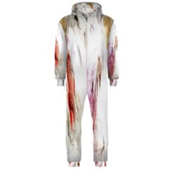 Abstract Angel in White Hooded Jumpsuit (Men)