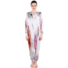 Abstract Angel in White OnePiece Jumpsuit (Ladies)