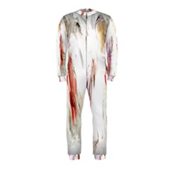 Abstract Angel in White OnePiece Jumpsuit (Kids)
