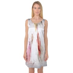 Abstract Angel in White Sleeveless Satin Nightdresses