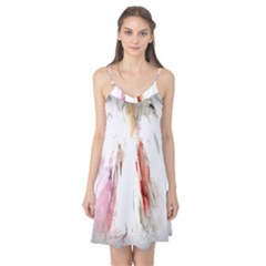 Abstract Angel in White Camis Nightgown