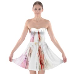 Abstract Angel In White Strapless Bra Top Dress