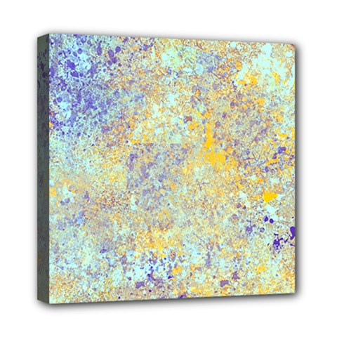 Abstract Earth Tones With Blue  Mini Canvas 8  X 8