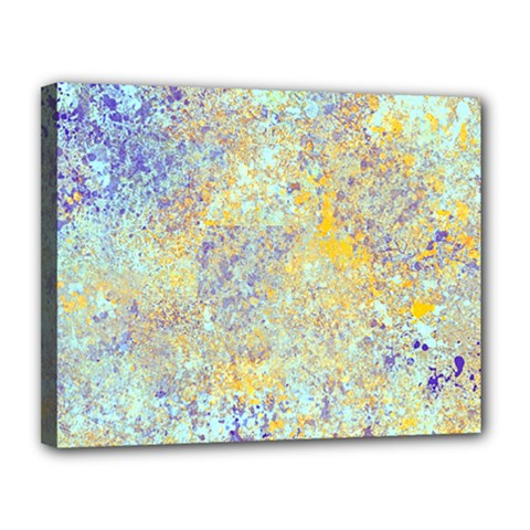 Abstract Earth Tones With Blue  Canvas 14  X 11
