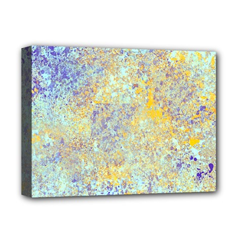 Abstract Earth Tones With Blue  Deluxe Canvas 16  X 12