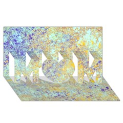 Abstract Earth Tones With Blue  MOM 3D Greeting Card (8x4)