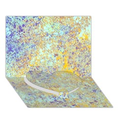 Abstract Earth Tones With Blue  Heart Bottom 3D Greeting Card (7x5)