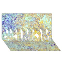 Abstract Earth Tones With Blue  #1 MOM 3D Greeting Cards (8x4)