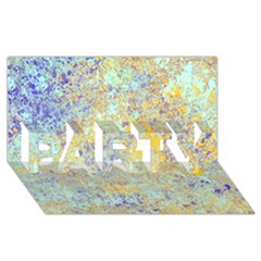 Abstract Earth Tones With Blue  PARTY 3D Greeting Card (8x4)