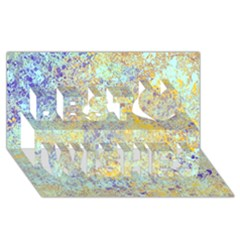 Abstract Earth Tones With Blue  Best Wish 3D Greeting Card (8x4)