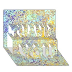 Abstract Earth Tones With Blue  Thank You 3d Greeting Card (7x5)