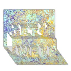 Abstract Earth Tones With Blue  Get Well 3D Greeting Card (7x5)