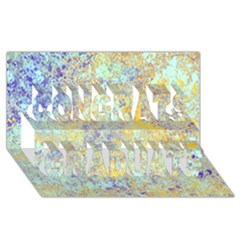 Abstract Earth Tones With Blue  Congrats Graduate 3d Greeting Card (8x4)