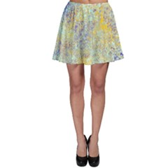 Abstract Earth Tones With Blue  Skater Skirts