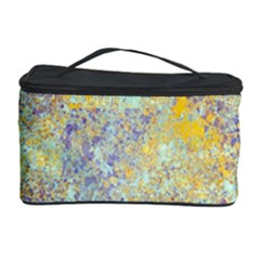 Abstract Earth Tones With Blue  Cosmetic Storage Cases