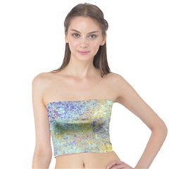 Abstract Earth Tones With Blue  Women s Tube Tops