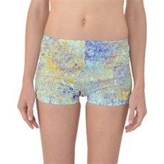 Abstract Earth Tones With Blue  Boyleg Bikini Bottoms