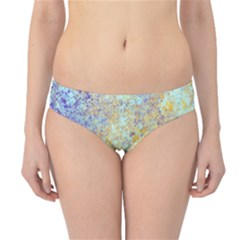Abstract Earth Tones With Blue  Hipster Bikini Bottoms