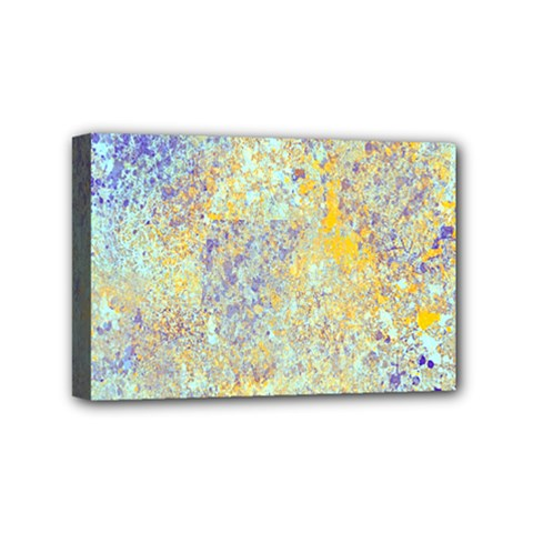 Abstract Earth Tones With Blue  Mini Canvas 6  X 4