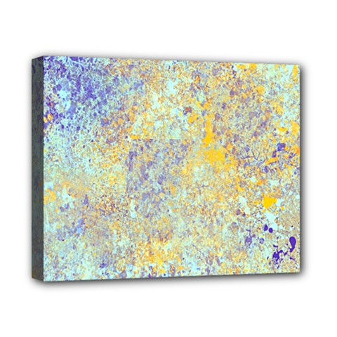 Abstract Earth Tones With Blue  Canvas 10  x 8