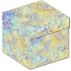 Abstract Earth Tones With Blue  Storage Stool 12