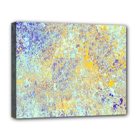 Abstract Earth Tones With Blue  Deluxe Canvas 20  x 16