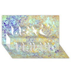 Abstract Earth Tones With Blue  Best Friends 3d Greeting Card (8x4)