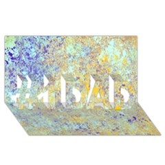 Abstract Earth Tones With Blue  #1 DAD 3D Greeting Card (8x4)