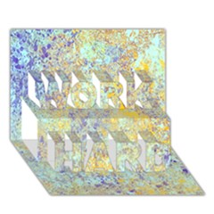 Abstract Earth Tones With Blue  Work Hard 3d Greeting Card (7x5)