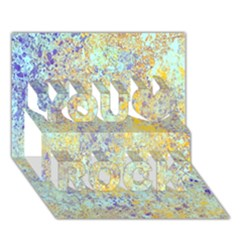 Abstract Earth Tones With Blue  You Rock 3D Greeting Card (7x5)