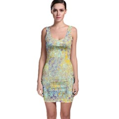 Abstract Earth Tones With Blue  Bodycon Dresses