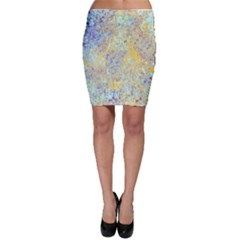 Abstract Earth Tones With Blue  Bodycon Skirts