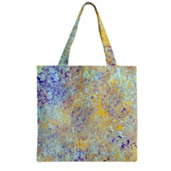 Abstract Earth Tones With Blue  Grocery Tote Bags