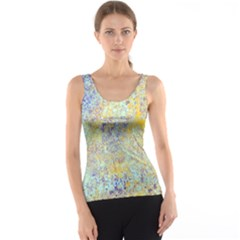 Abstract Earth Tones With Blue  Tank Tops