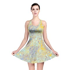 Abstract Earth Tones With Blue  Reversible Skater Dresses