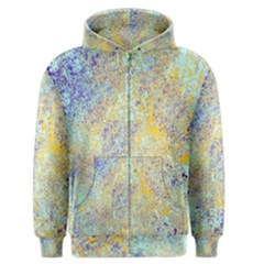 Abstract Earth Tones With Blue  Men s Zipper Hoodies
