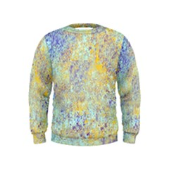 Abstract Earth Tones With Blue  Boys  Sweatshirts