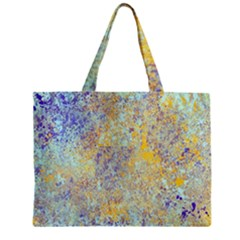 Abstract Earth Tones With Blue  Zipper Tiny Tote Bags
