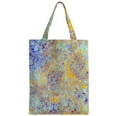 Abstract Earth Tones With Blue  Zipper Classic Tote Bags