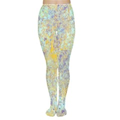 Abstract Earth Tones With Blue  Women s Tights